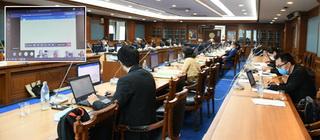 คณะกรรมการพัฒนากฎหมายจัดประชุมผ่านสื่ออิเล็กทรอนิกส์ ตามมาตรการในการป้องกันการแพร่ระบาดโรค...